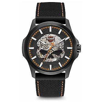Harley Davidson Mens Willie G Skull | Black Dial | Black Silicone Strap 78A118 Watch