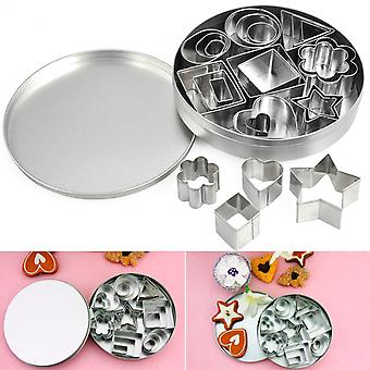 TRIXES 24PC Steel Shape Cutter Mould Set With 8 Designs …