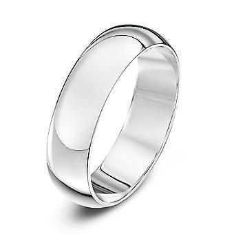 خاتم نجمة 18 قيراط الذهب الأبيض د الثقيلة 5 مم خاتم الزواج