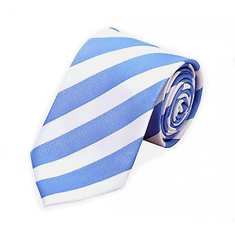 Tie tie tie tie 8cm Blue Fabio Farini white striped