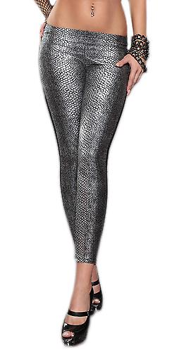 Waooh - Fashion - shiny snakeskin leggings plus size