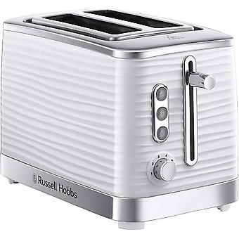 Russell Hobbs 24370 Inspire High Gloss 2 Slice Toaster - White