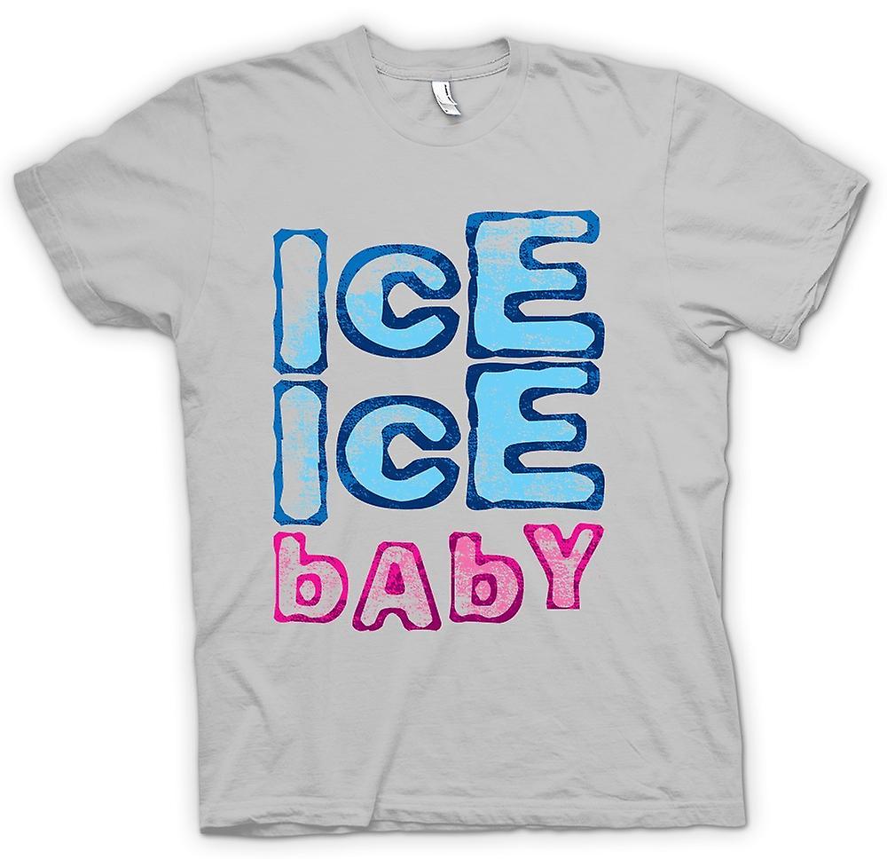 Heren T-shirt-vanille ijs - Ice Ice Baby - Funny