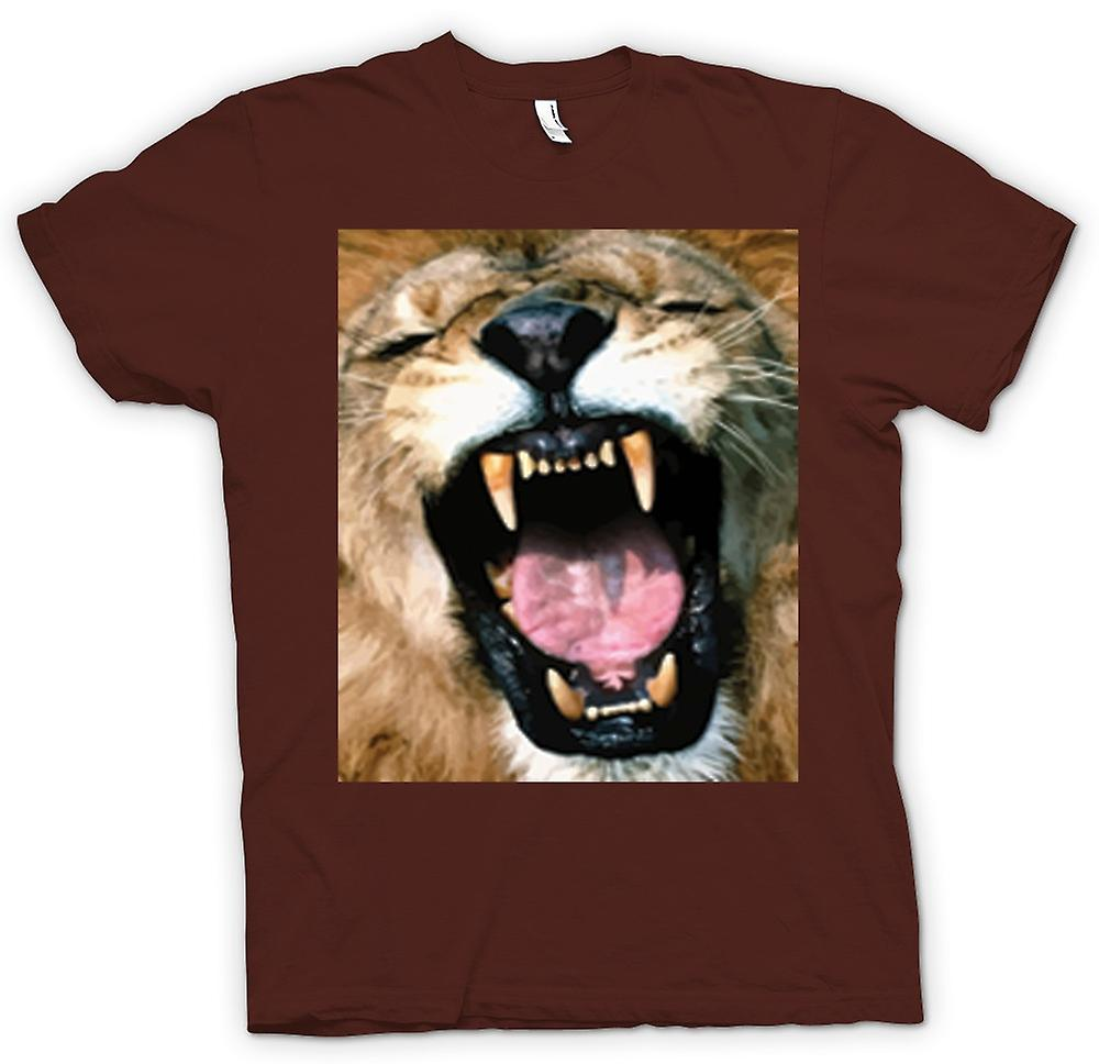 Mens T-shirt - Roaring Lion Portrait