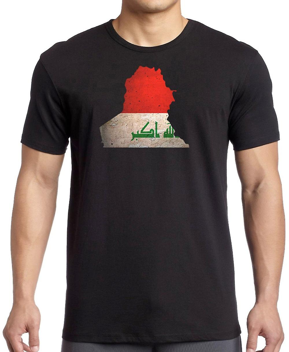 Iraqi Iraq Flag Map -  T Shirt