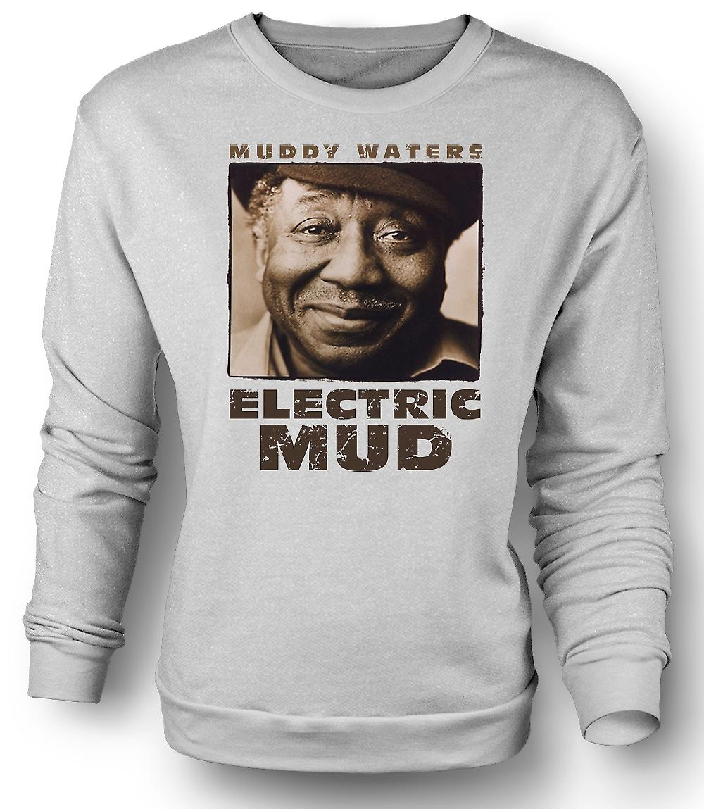 Mens Sweatshirt Muddy Waters elektrisk Mud Blues - gitar - ikon