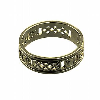9ct Gold 6mm Celtic Wedding Ring Size R