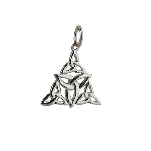 Silver 17x16mm triple Celtic Trinity knot Pendant