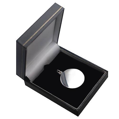 Silver 30mm round plain round Disc