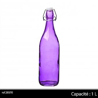 1Ltr Glass Bottle Purple