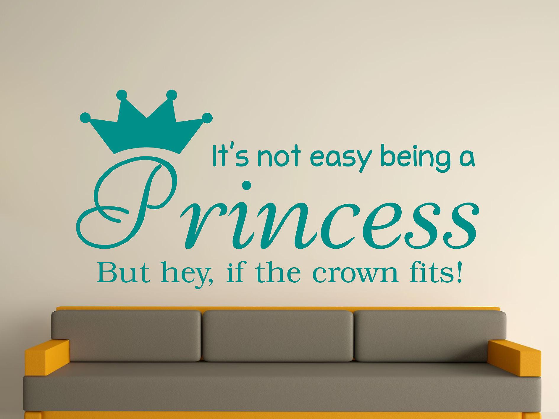 Being A Princess Wall Art Sticker - Aqua Green