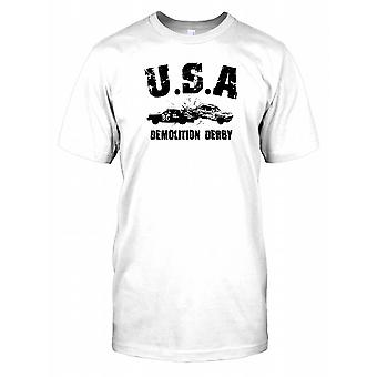 USA Demolition Derby Mens T Shirt