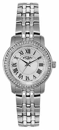 Rotary Womens Stainless-Steel, Crystal-Set LB02595/41 Watch