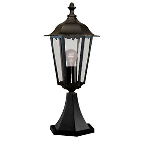 Searchlight 82503BK Alex Traditional Black Small Outdoor Newel Post IP44