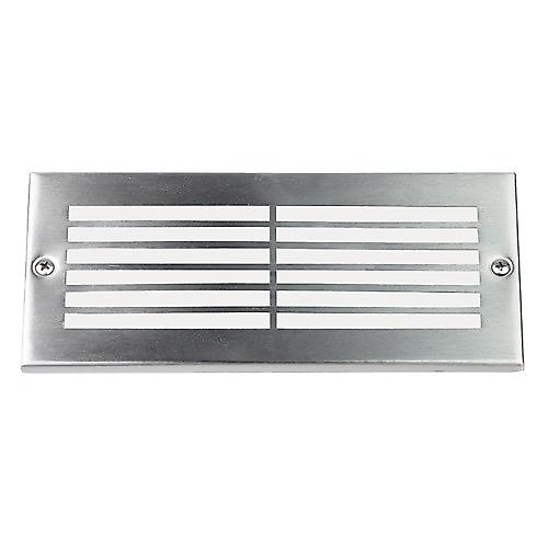 Endon EL-40020 Stainless Steel Bricklight With Grill Over Glass Lens