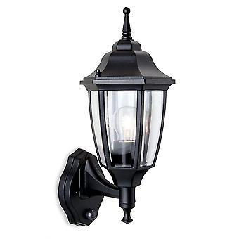Firstlight-1 licht buitenmuur lantaarn-uplight met PIR zwarte IP44-8663BK
