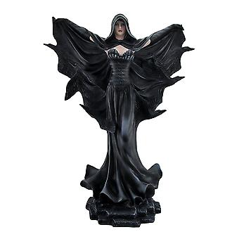 Onyx The Sorceress of Harbinger Hill Gothic Black Raven Witch Statue 22 Inch