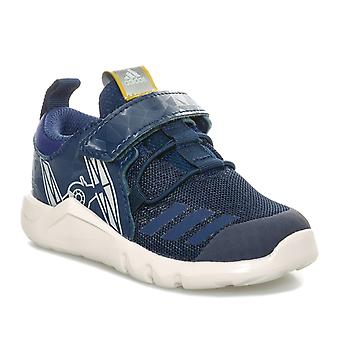Infant Boys adidas Star Wars Rapidaflex Trainers In Navy- Hook And Loop