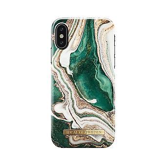 iDeal Fashion Case Golden Jade Mármol iPhone XS/X