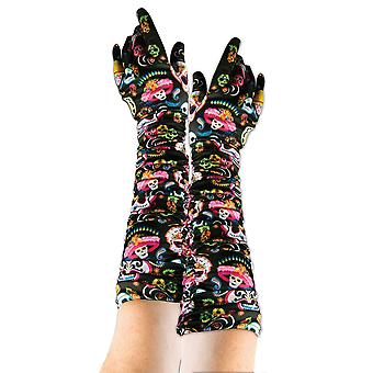 Bristol Novelty Unisex Adults Day Of The Dead Gloves (1 Par)