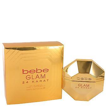 Bebe Glam 24 Karat Eau De Parfum Spray By Bebe 100 ml