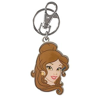 Key Chain - Disney - Princess - Belle Two sided Colored Pewter New Toys Licensed 23471