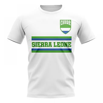 Sierra Leone Core Calcio Country T-Shirt (Bianco)