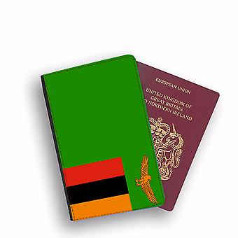 ZAMBIA Flag Passport Holder Style Case Cover Protective Wallet Flags design