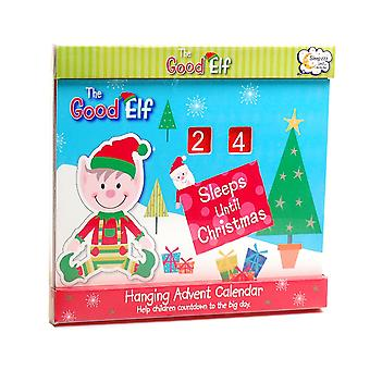 The Good Elf - Wooden 'How Many Sleeps Until Christmas' Hanging Advent Calender