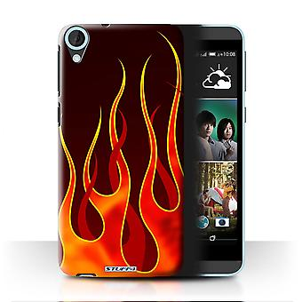 STUFF4 Case/Cover for HTC Desire 820s Dual/Red/Orange/Flame Paint Job