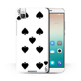 STUFF4 Case/Cover for Huawei Honor 7i/ShotX/9 of Spades/Playing Cards