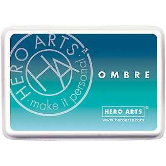 Hero Arts Ombre Ink Pad-Pool To Navy OMBRE-AF308
