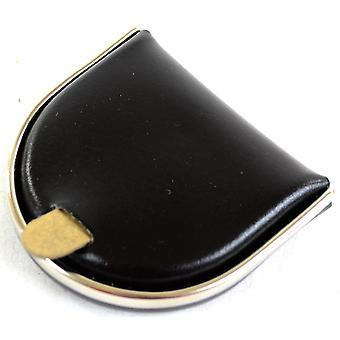 メンズ本革金・銀金属リム (黒) 付きのトレイをコイン