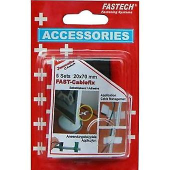 Hook-and-loop tape stick-on, for bundling Hook and loop pad (L x W) 75 mm x 20 mm Black Fastech 900-330 5 pc(s)