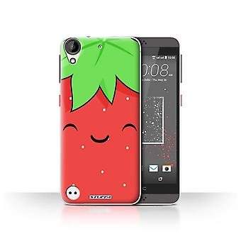 STUFF4 Case/Cover for HTC Desire 630/Strawberry/Kawaii Food
