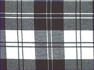 Erskine Black/White, Modern - Pure Wool Tartan
