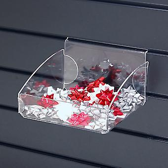 Acryl / perspex slatwall container