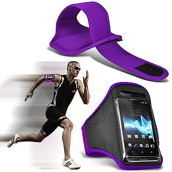 ( Dark Purple ) BLACKVIEW OMEGA case High Quality Fitted Sports Armbands Cover By i-Tronixs