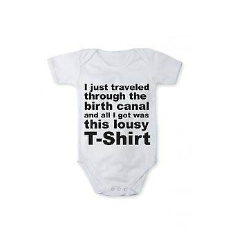Baby body with pressure, I traveled through birth canal in various languages