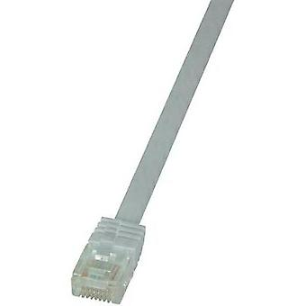 RJ49 Networks Cable CAT 6 U/UTP 10 m White highly flexible LogiLink