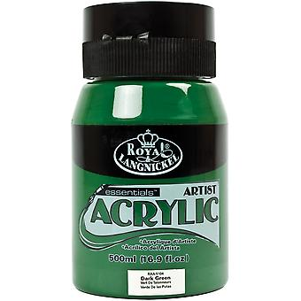 Essentials Acrylic Paint 16oz/Jar-Dark Green RAA500-5104
