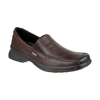 Cotswold Hazelton Ladies WP Shoes Textile Leather PU Slip On Fastening Footwear