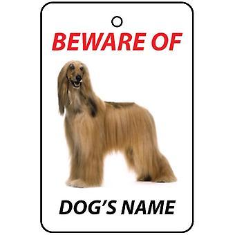 Ambientador de coche personalizado Afghan Hound perro
