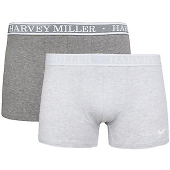 2 Pack Harvey Miller Polo Club shorts men's Boxer shorts grey