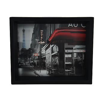 Rue Parisienne indrammet fotografiske 8 X 10 Shadowbox vægtæppe