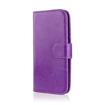 32nd Book wallet case + stylus for Alcatel Idol 4S (5.5) - Purple