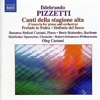 I. Pizzetti - Ildebrando Pizzetti: Canti Della Stagione Alta [CD] USA import