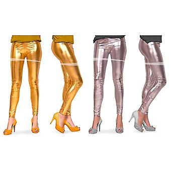 Leggings metallic ladies tights 80s