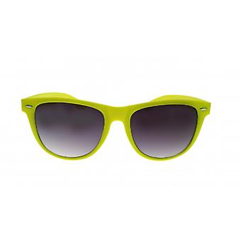 W.A.T Oversized Yellow Neon Retro Wayfarer Style Sunglasses