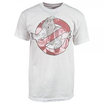 Honcho SFX Herre Ghostbusters ansigter T Shirt hvid